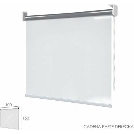 Mampara Enrollable Pvc Transparente, 100 x 150 cm. Cadena Lado Derecho.