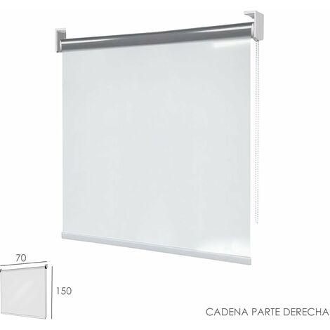 Mampara Enrollable Pvc Transparente, 70 x 150 cm. Cadena Lado Derecho.