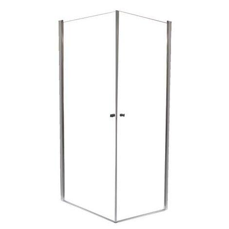 MAMPARA FRISCO Ángulo cuadrado 90 Transparente Dimensiones : 90x195 cm - Aqua +
