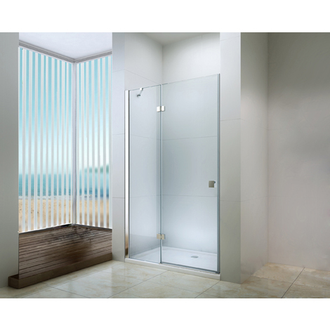 MAMPARA FRISCO Puerta pivotante 140 Transparente Dimensiones : 140x195 cm - Aqua +