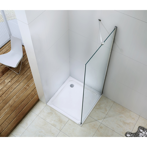 MAMPARA FRISCO Panel fijo 90 Transparente Dimensiones : 90x195 cm - Aqua +