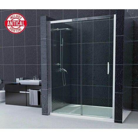 Mampara Frontal con Cristal Fijo y puerta corredera Modelo Turqueta
