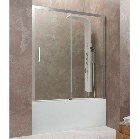 Mampara frontal de bañera AKTUAL de fijo + corredera Cristal: