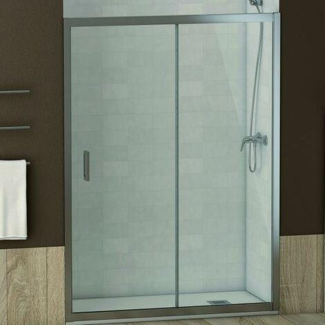 Mampara frontal de ducha cromo transparente Austin