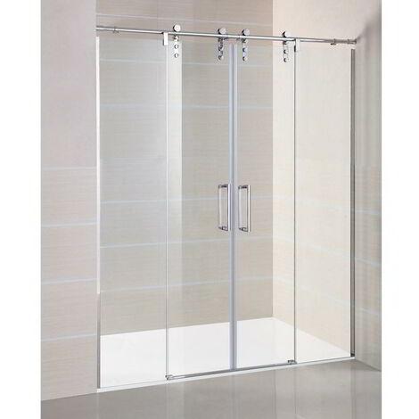 Mampara Frontal de ducha MOVING 2 fijos + 2 puertas correderas
