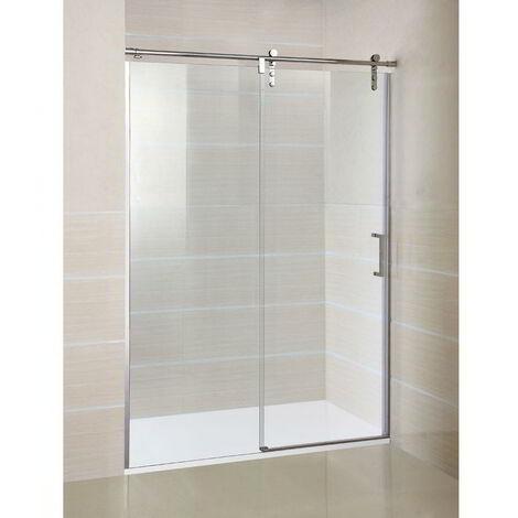 Mampara frontal de ducha MOVING fijo mas puerta corredera