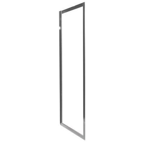 MAMPARA NAPA Panel fijo 90 perfil Cromado Dimensiones : 90x195 cm - Aqua +