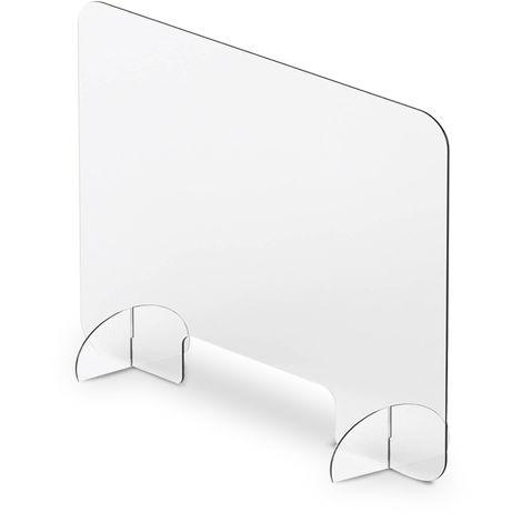 Mampara para mostrador 80x120cm con ventana 12x28cm