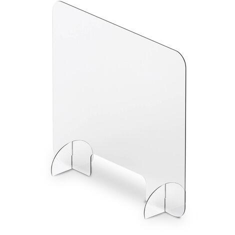Mampara para mostrador 80x80cm con ventana 12x28cm
