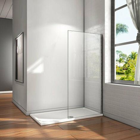 Mampara walk-in, Mampara de ducha fija de,Vidrio templado de 6mm tratamiento antical/Easyclean