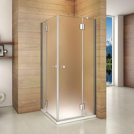 Mamparas Cabina de Ducha cristal 8mm Puerta opaco Abatible de Baño altura 190 cm