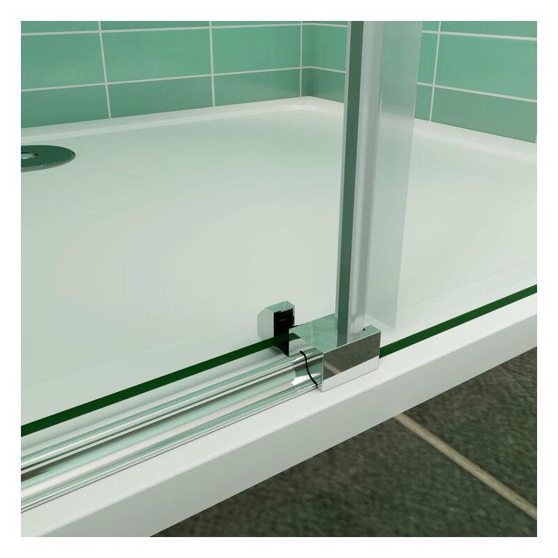 130x70x195cm Mamparas de ducha cabina de ducha 8mm vidrio templado de Aica