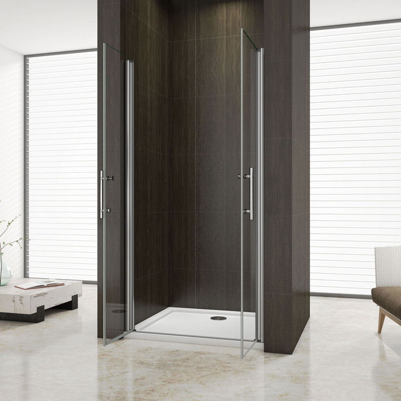 105x80x195cm Mamparas de ducha cabina de ducha 8mm vidrio templado de Aica