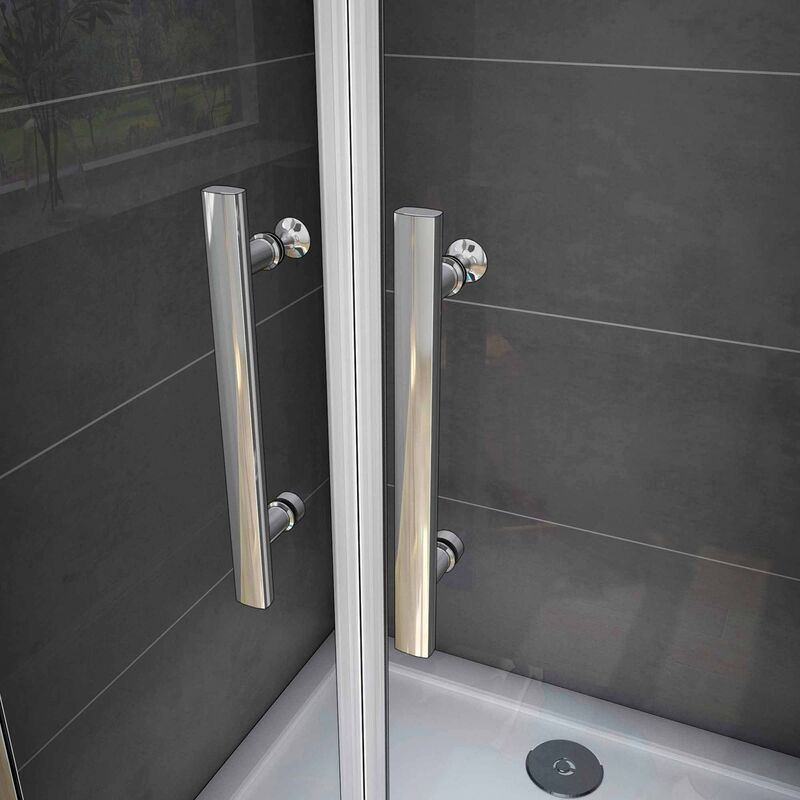 Mamparas Ducha Puerta Abatible Doble Cristal Mate Antical 6mm 80x195cm