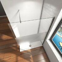 Mamparas ducha Panel Pantalla Fija cristal 10mm templado para baño