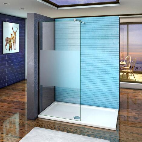Mamparas ducha Panel Pantalla Fija Vidrio laminado de film seguirdad a pureba de explosiciones 10mm
