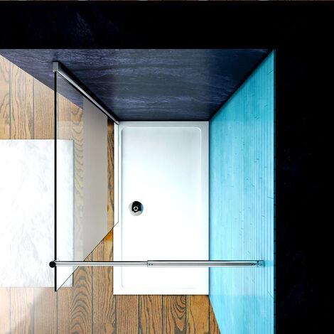 Mamparas ducha Panel Pantalla Fija Vidrio laminado de film seguirdad a pureba de explosiciones 8mm