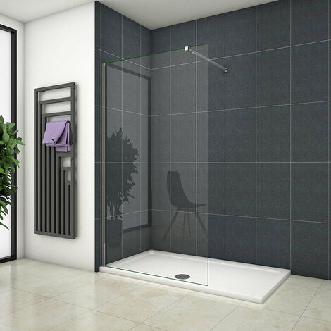Mamparas ducha Panel Pantalla Fija Vidrio laminado de film seguridad a prueba de explosiciones 8mm - Barra 73-120cm,110x200cm