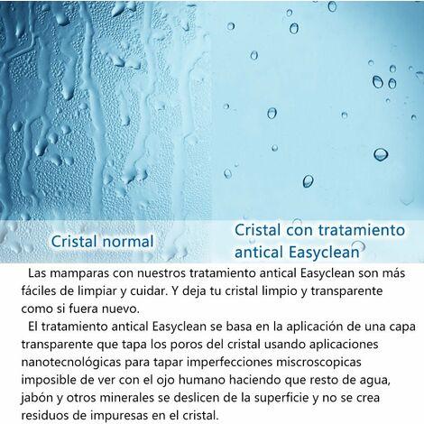 Mamparas Ducha Puerta Abatible Doble Cristal Mate Antical 6mm