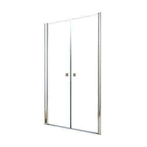 MAMPARAS FRISCO Puerta tipo saloon 90 Transparente Dimensiones : 90x195 cm - Aqua +