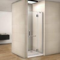 Mamparas Pantalla de ducha cristal 8mm Puerta giratoria de Baño