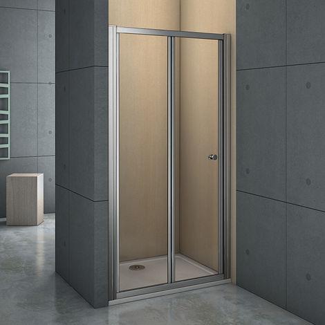 Mamparas Puerta Abatible Pantalla de Ducha 6mm cristal para