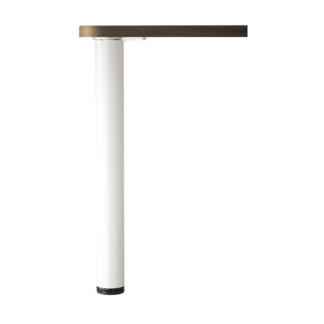 Pied De Table Extensible MANART   710 à 1100 Mm   Ø 60 Mm   Blanc   20BLANC