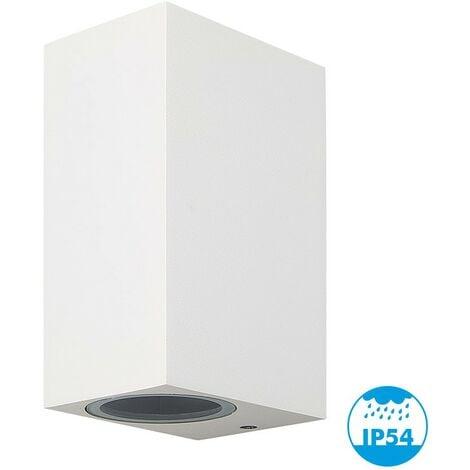 MANATHAN Aplique Blanco Exterior Rectangular 2x GU10 IP54