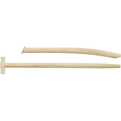 Manche pelle forme T frêne 1100/41mm courbé
