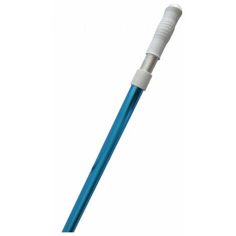 Manche Télescopique en alu pour Piscine, Utile 2.4 ML - de 1.34 a 2.4 ml.