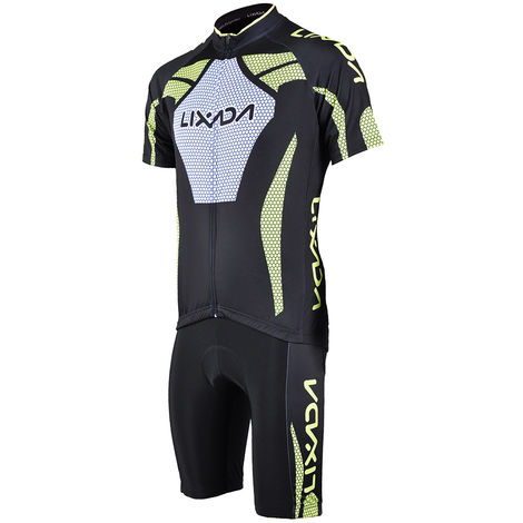 Manches Courtes Homme Maillot Cyclisme Rembourre Court Sport Costume Set Tissu Velo Respirant, S
