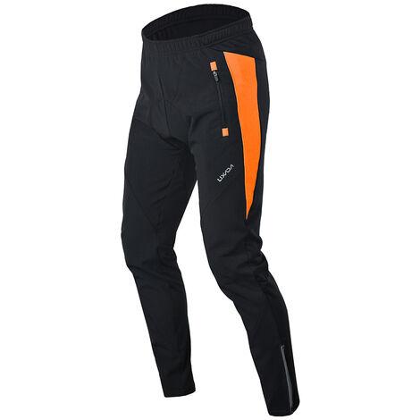 Manches Longues Pantalon Equitation Vent Chaud D'Hiver, Orange Code Xl