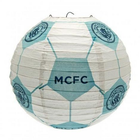 Manchester City FC Concertina Paper Light Shade (One Size) (Blue/White)