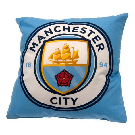 Manchester City FC Cushion (One Size) (Blue)