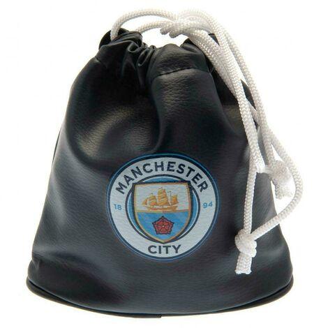 Manchester City FC Golf Drawstring Bag (One Size) (Black)