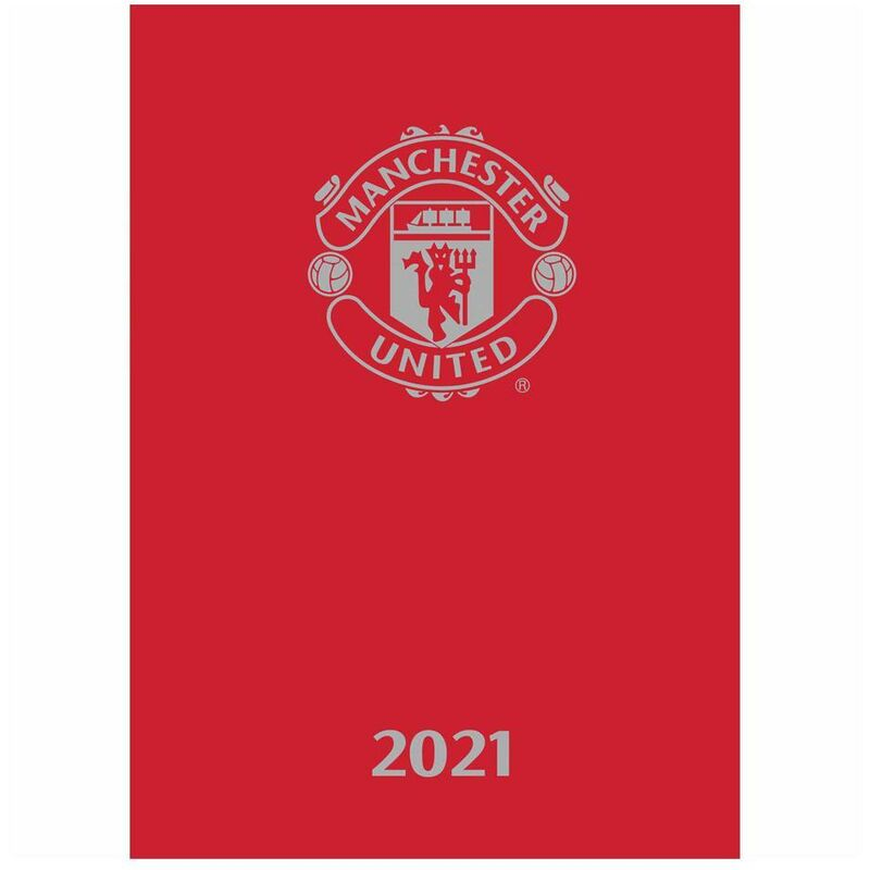 Image of Manchester United FC 2021 A5 Diary (One Size) (Red)