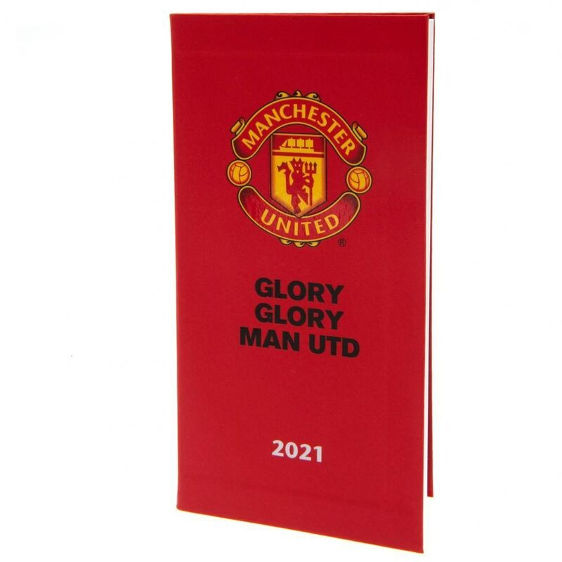 Image of 2021 Diary (One Size) (Red) - Manchester United Fc
