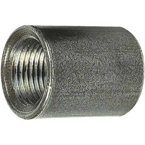 Manchon acier noir égal 25mm pour bobine taraudé cylindrique Femelle 1/4