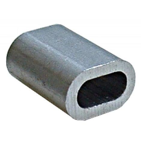 Manchon aluminium pour câble galva Ø 5mm sachet de 10 pièces