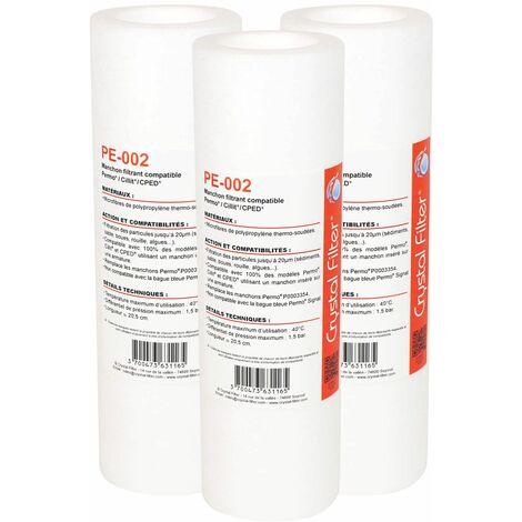 Manchon compatible Permo Cristal 3 et 4 - 10 - P0003354 - Crystal Filter® PE-002 (lot de 3)