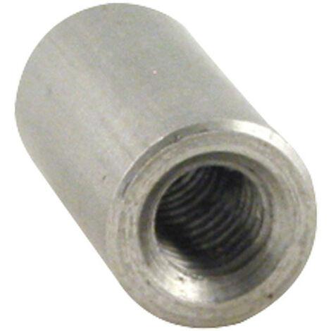MANCHON CYLINDRIQUE TARAUDE M6X20 DIAMETRE EXTERIEUR 10 INOX A4