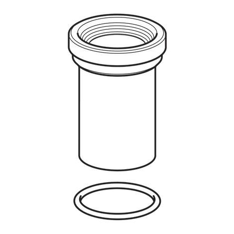 """main image of """"Manchon de raccordement WC Geberit avec manchette et joint torique Ø110 - Geberit"""""""