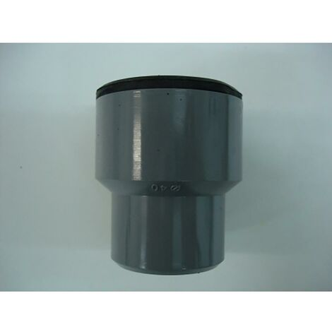 Manchon d'évacuation pour tuyau métallique 40Mm-28/35Mm Pvc Gris Saneaplast