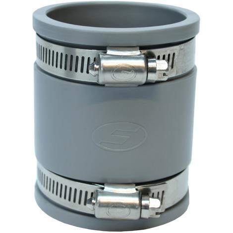 Manchette souple multi-matériaux à joint Girpi - Femelle / Femelle - Diamètre 40 mm - Gris