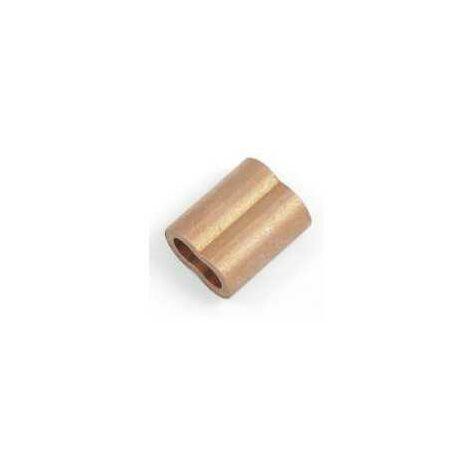 Manchon en cuivre pour câble inox