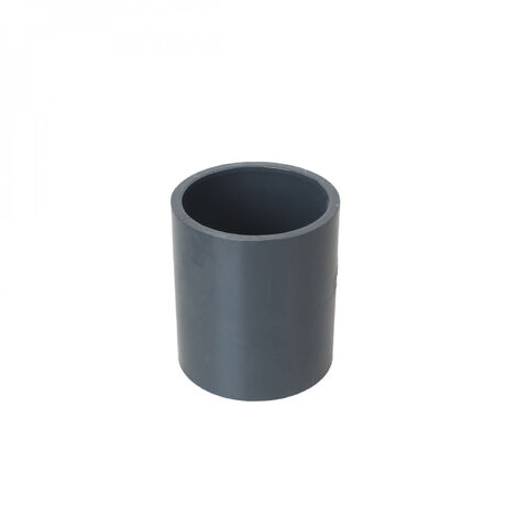 Manchon en PVC PN 16 - 50 mm - Femelle femelle - Gris - Linxor