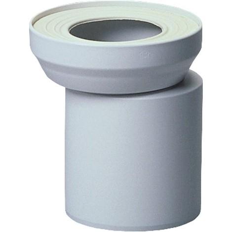 Manchon excentre WC DN110 blanc