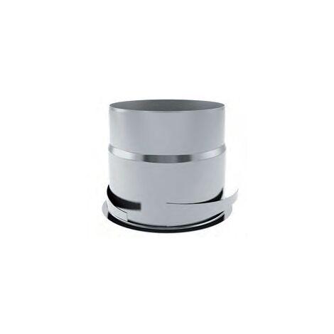 Manchon placo métal long 100 D80 - ECONONAME - MPML80B Diamètre 80 mm