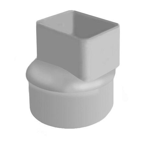 Manchon pour tube descente gouttière alu - 82x56 mm - Gris - Ø100 - First Plast