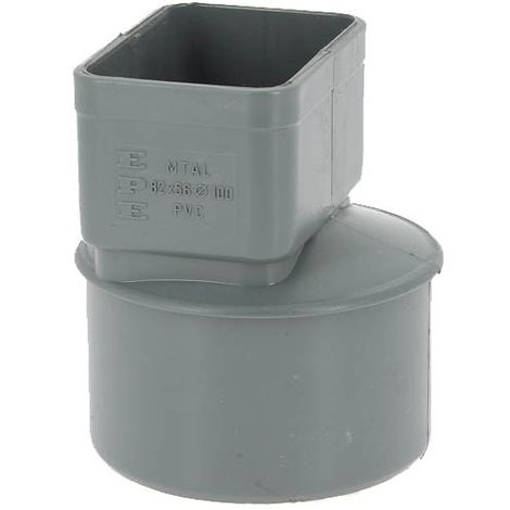 Manchon PVC Ø100 pour sortie tube alu 82x56mm gris MTAL